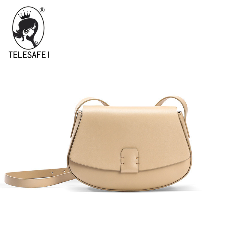 The new spring and summer fashion simple small saddle bag all-match bag leather shoulder diagonal cross leather handbag sa212 saddle bag motorcycle side bag helmet bag free shippingkorea japan e ems