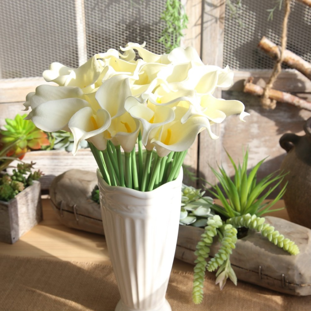 Zmocen Artificial Flowers 12 Colors Real Looking Fake Calla For Diy