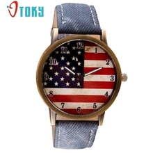 OTOKY American Flag pattern Leather Band Analog Quartz Wrist Watch for women Clock relojes mujer Relogio Feminino #30 Gift