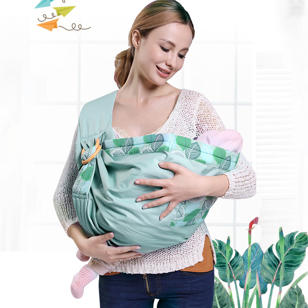 Baby Backpack Carrier Newborn Baby Horizontal Carrier Nursing Cover Four Seasons Multi-Functional Breathable Wrap Swaddle