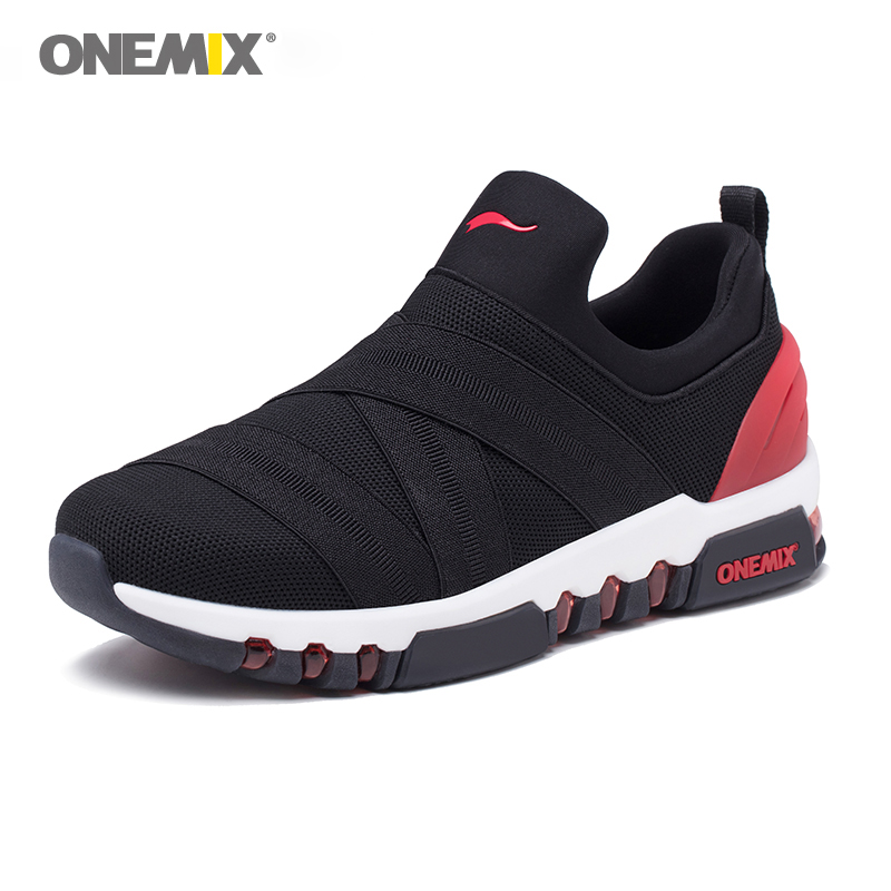 New Onemix air running shoes for men athletic sneakers in jogging trekking shoes mesh vamp Black