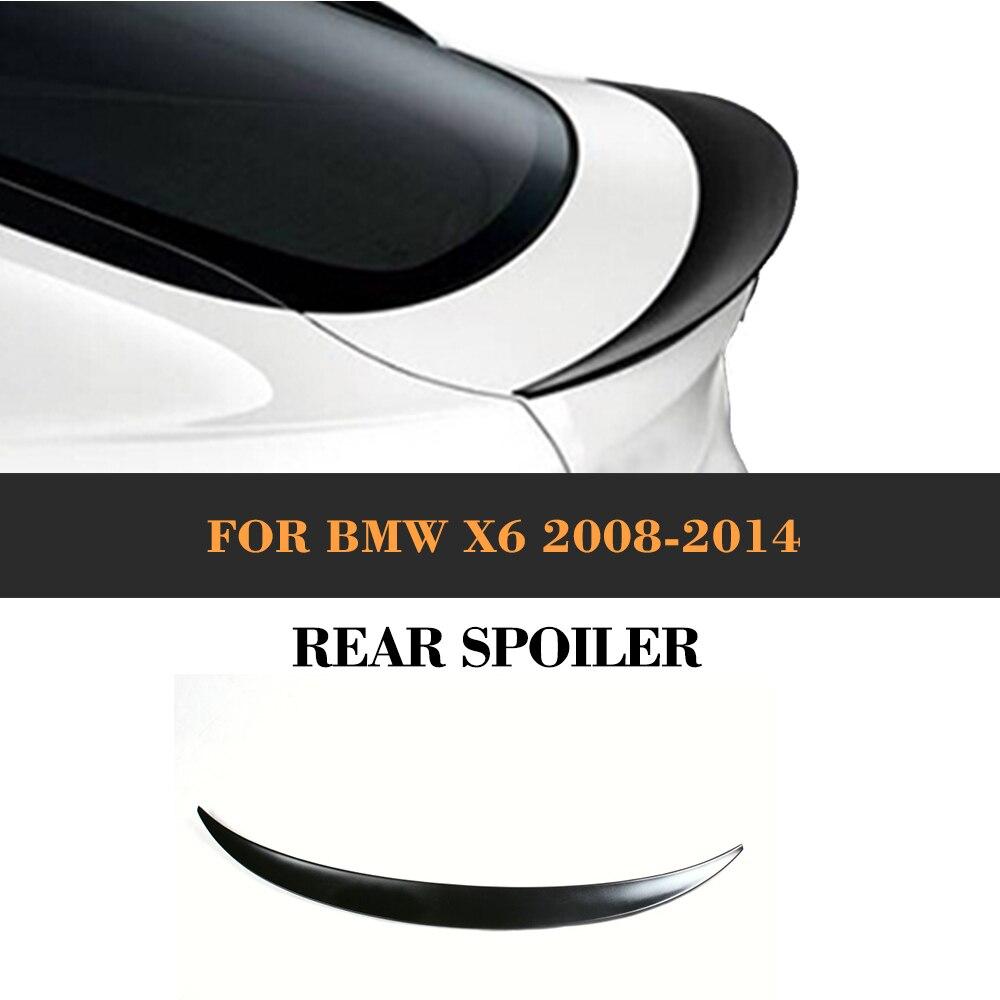 Aileron de coffre arrière en PU non peint pour BMW E71 X6 2008 2009 2010 2011 2012 2013 2014 style de voiture