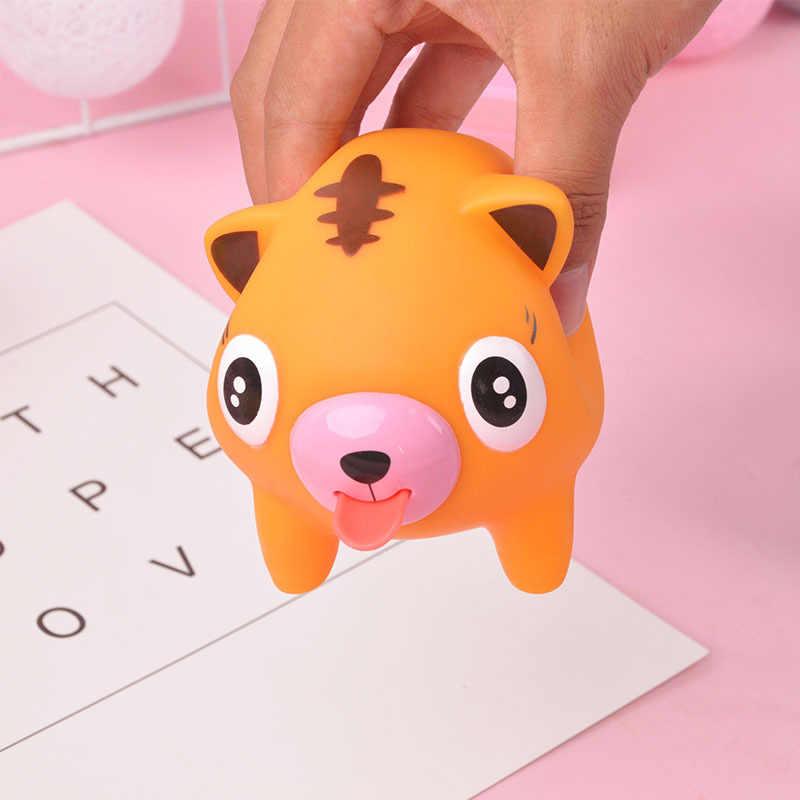ZNNL046-1 Lidah Lidah Hewan Memeras Gag Utilitas Lucu Tiger Babi Anjing Model Anti-Stres Mainan Hadiah Ulang Tahun Anak-anak Anti -Stres