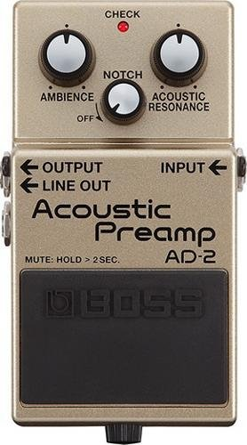 Boss AD-2 Acoustic Guitar Preamp Pedal with Free Bonus Pedal Case