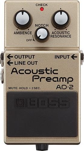 Boss AD 2 Acoustic Guitar Preamp Pedal with Free Bonus Pedal Case