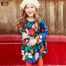 Children Dress Vestidos Fashion Shoes for Girls Floral Applications Suit Toddlers Cotton clothes 2-7y