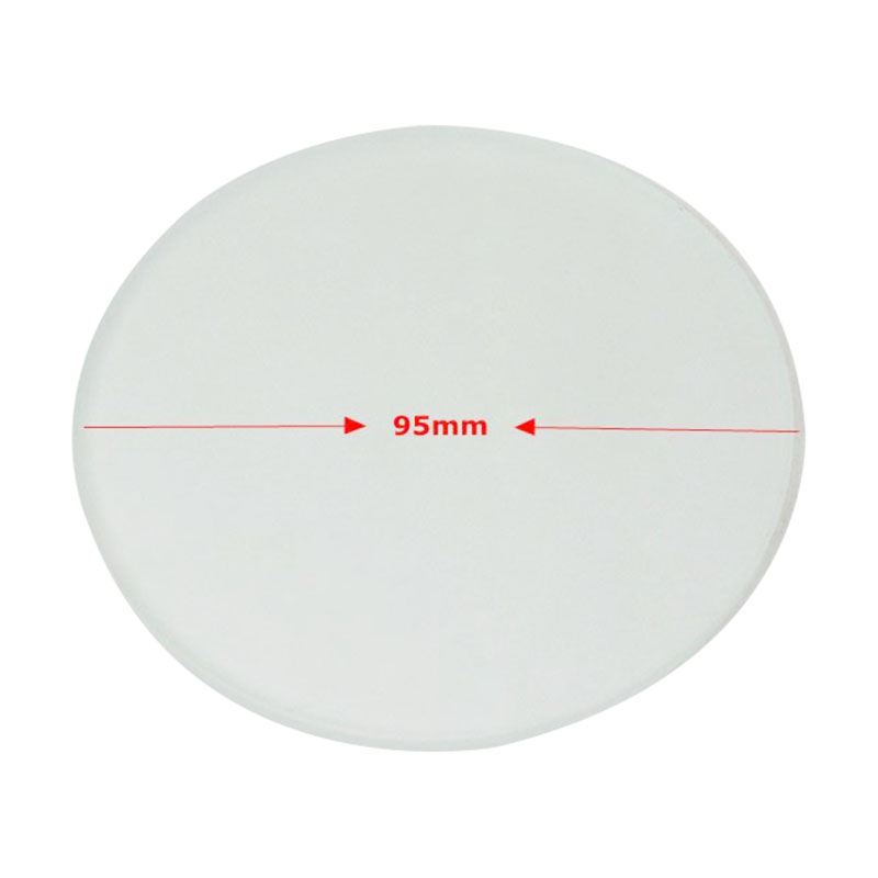 Diameter 95 Mm Translucent Board Frosted Glass Working Stage Round Specimen Plate Thickness 4 Mm For Stereo Microscope