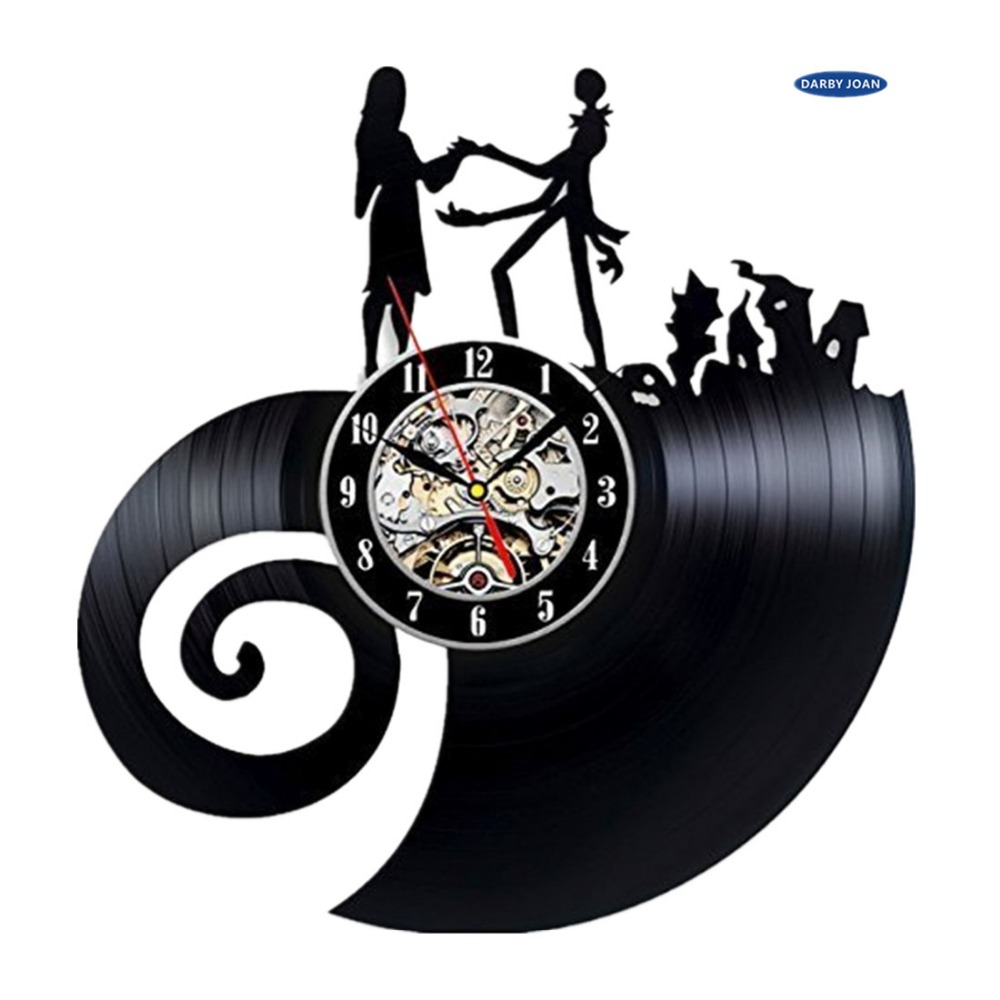 Vinyl Evolution Nightmare Before Christmas Love Wall Clock reloj-in ...
