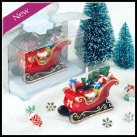 Sled Candle Small Gifts For Kids Party Xmas Gifts Christmas Candle Decorative Candles Mini Candles