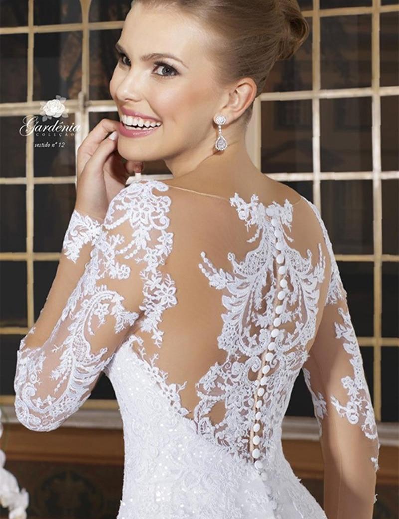 Button Back Lace Wedding Dress_Wedding Dresses_dressesss