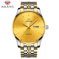 AILANG Mens שעונים מכאניים אוטומטיים גברים למעלה מותג באיכות גבוהה יוקרה הצלילה 30 M מלא פלדת שעון זהב חדש איש עסקים 2018