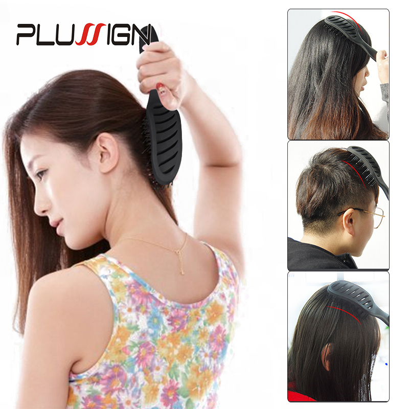 Plussign New Hair Brushes Curved Vented Styling Hair Brush, Detangling Thick Hair Massage Blow Drying Brush, Massage Hair Comb 5
