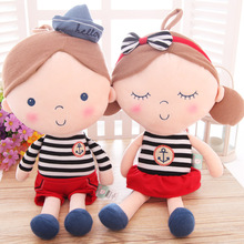 30cm 2pcs Lover Plush toys for girl friends doll cute cartoon couple Haibel Doll Girls Birthday Gift