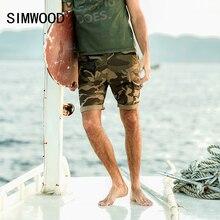 Simwood Летняя Новинка 2017 г. камуфляжные шорты мужские военных грузов карман Slim Fit брендовая одежда мода плюс Размеры XD017048