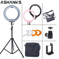 ASHANKS 12 55W 5500K Ring Light With Stand 240 LED Photographic Lighting Dimmable Camera Photo Studio