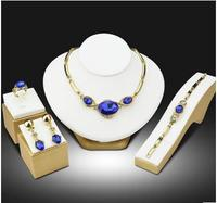 2017 New High Quality Gold Austria crystal Jewelry Sets Used for weddings, parties Wedding Free shipping