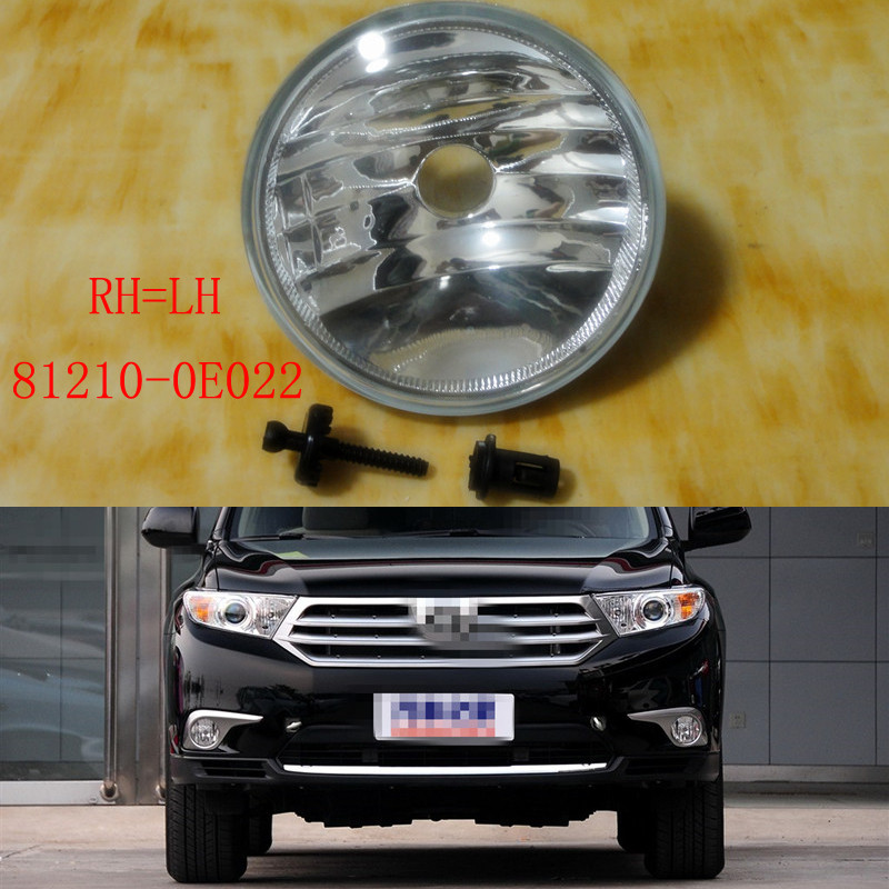 1 Piece RH=LH Without bulb Front Bumper Fog Light Lamp for TOYOTA Highlander 2011-2013 1 pc lh without bulb driver side front bumper fog light spot lamp for honda accord crosstour 2010