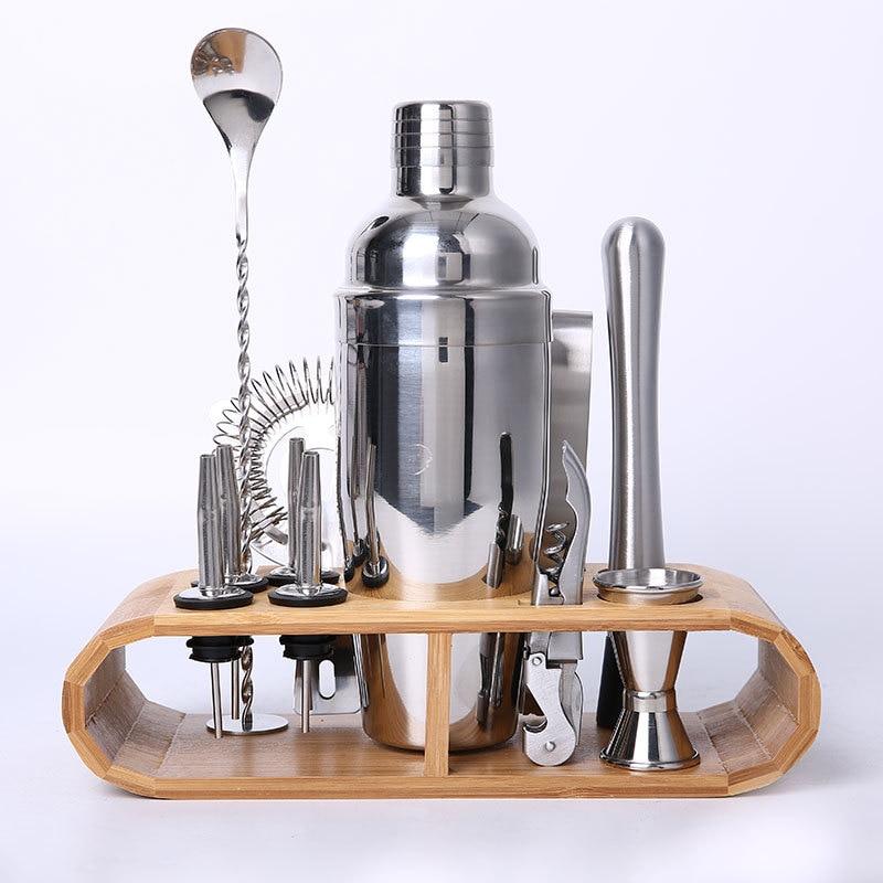 Kit du Parfait Barman Shaker acier inoxydable + accessoires
