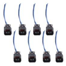 8pcs Ignition Coil Harness Connector Modular for Ford Focus Mustang 1991-2011 4.6L 5.4L Modular motors 6.8L V10 Triton motors