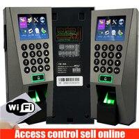 ZK F18 отпечатков пальцев доступа Управление и рабочего времени с WI FI TCP/IP 125 кГц rfid карты дверей Система контроля доступа