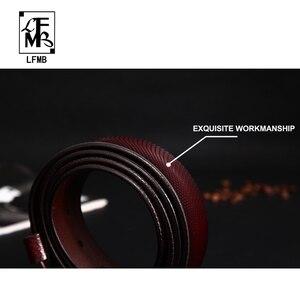 Image 5 - [LFMB] حزام الرجال جلد طبيعي مصمم أحزمة الرجال عالية الجودة الفاخرة الذكور حزام Cinturones Hombre شحن مجاني