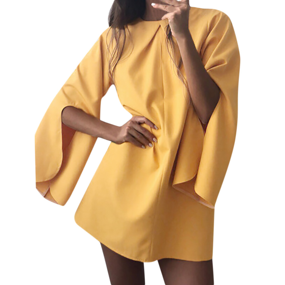 feitong Women Winter Long Sleeve O Neck Above Knee Dress Ladies Beach Party Dresses Night Club Sexy Party Dress Ladies Clubwear