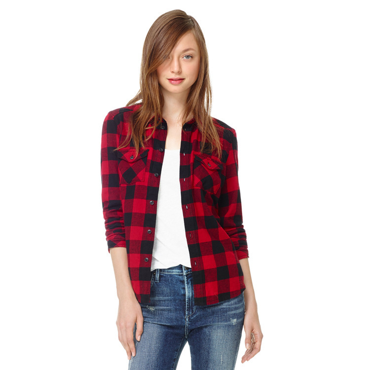 Red And Black Checked Shirt Womens