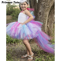 Unicorn Bustle Tutu Dress Girls Size 10 12 Birthday Photo Prop Dress Up Costume Colorful Pony