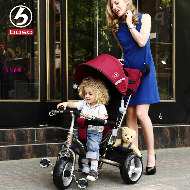 Boso ребенок на трехколесном ЕВА колесо для 8month-5years ребенок стали и TPR рамки детские коляски велосипед
