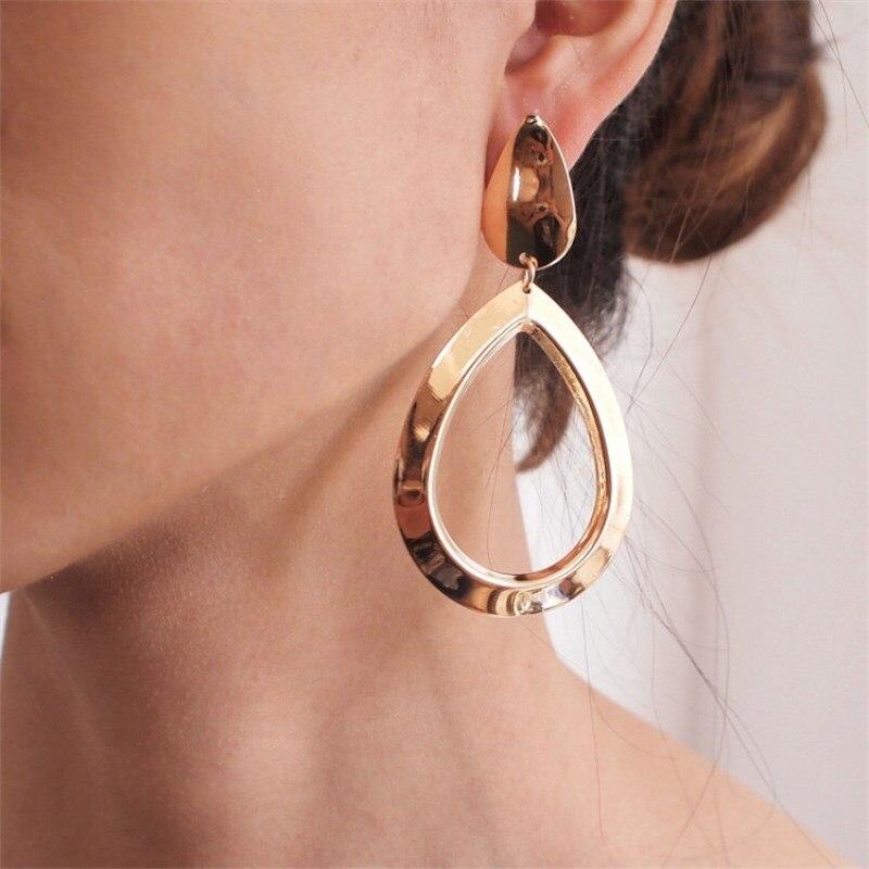 Acrylic Circular Earrings Long Drop Dangle Earrings Pendant Earrings Jewelr SG