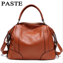 PASTE Brand Fashion Lady Bags High Quality Genuine Leather Women Messenger Bags Handbag Natural Cowhide Women Shoulder Bag