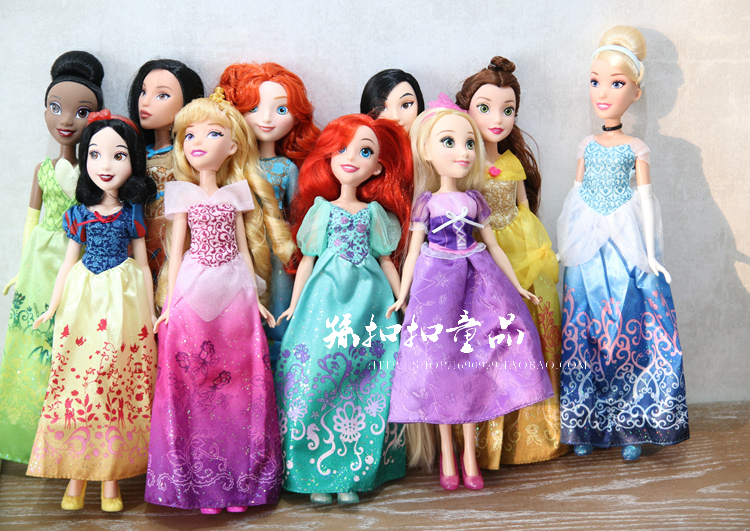 Princess аниматорлар Sharon Doll Princess София ұзын шашы Snow White Ariel Rapunzel Merida Золушка Aurora Belle Princess қуыршақтар