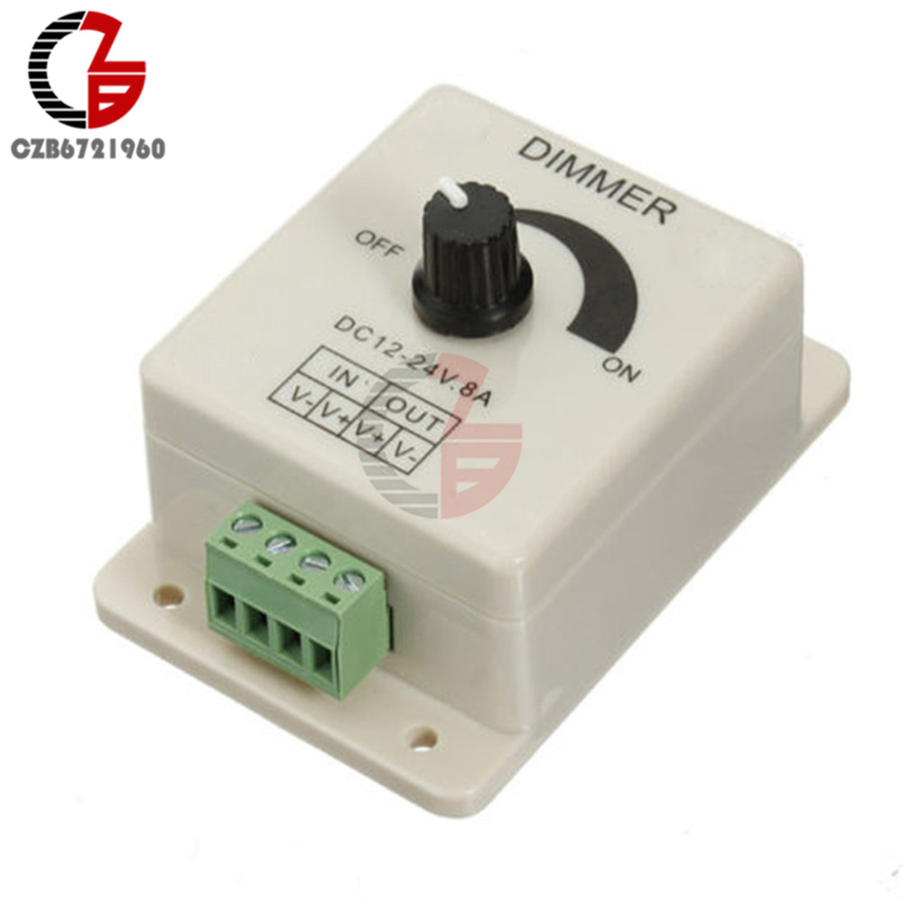Voltage Regulator DC-DC Voltage Stabilizer 8A Power Supply Adjustable Speed Controller DC 12V LED Dimmer 12V
