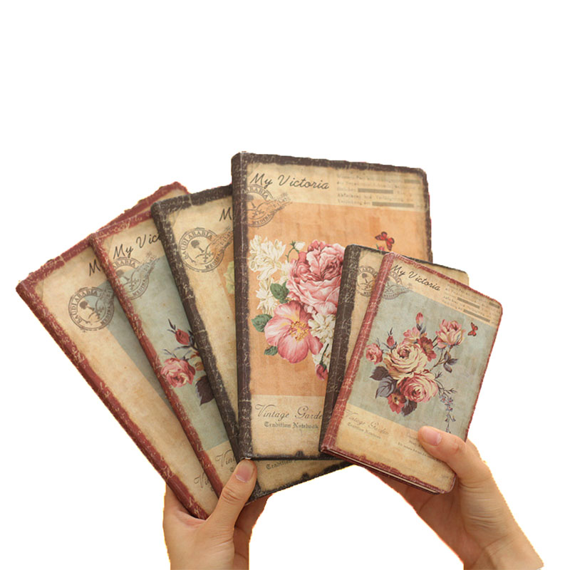 A6 Retro Silk Cloth 96 Sheets Floral Flower Schedule Book Diary Weekly Planner Notebook