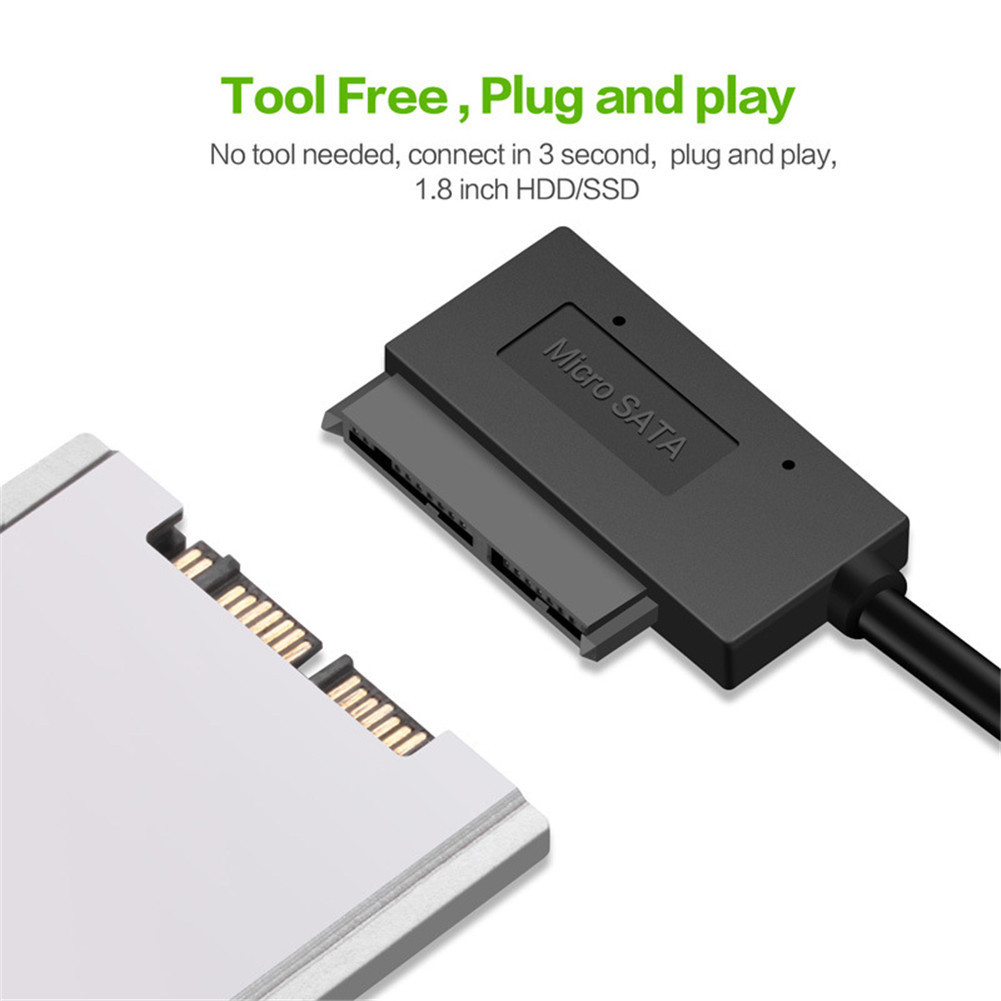 Sata 7+9 Pin USB Adapter USB 3.0 To Micro SATA Hard Drive Adapter Cable 16 Pin For 1.8 Inch SSD HDD Laptops 5Gbps Data Tranfer