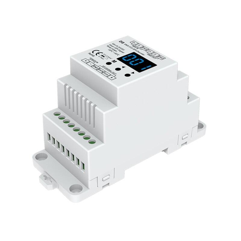 DS; DC5V 12 V 24 V DMX512 à SPI décodeur convertisseur DMX à spi TTL Pixel contrôleur soutien 6803/8806/2811/2812/2801/3001/9813/ic