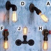 E27 Vintage Retro Edison Wall Lamp Loft Rustic Iron Light Fitting Bulb Industrial