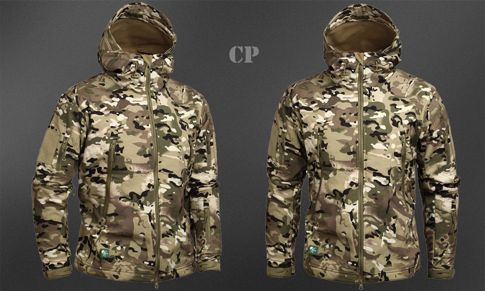 Men's Military Camouflage Fleece Jacket Army Tactical Clothing 58