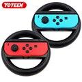 Yoteen 2Pcs Freude-Con Rad Für Nintendo Schalter Racing Spiel Rad Controller NS Freude-Con Grip Warenkorb halter