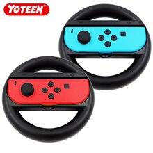 Yoteen 2Pcs Joy-Con Wheel For Nintendo Switch Racing Game Wheel Controller NS Joy-Con Grip Cart Holder