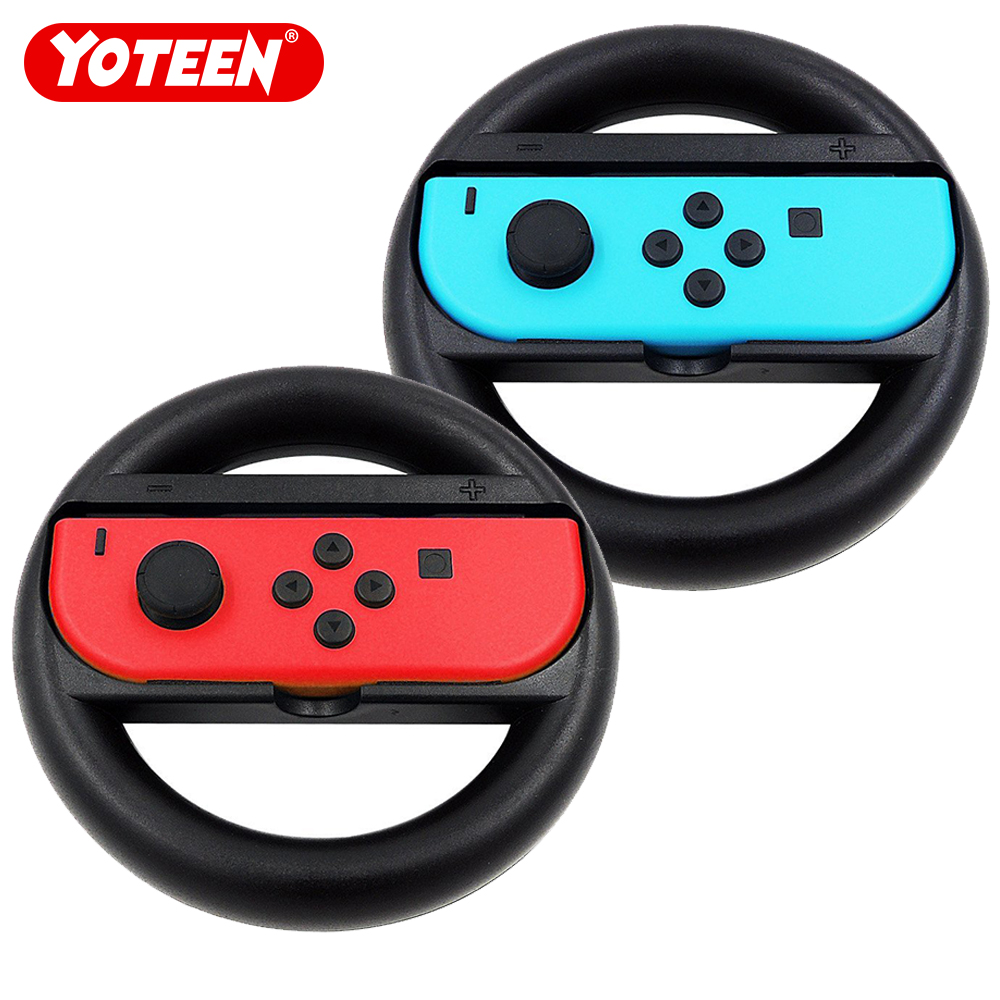 2Pcs Joy-Con Wheel for Nintendo Switch Game Wheel for Nintendo Switch Controller NS NX 2017 Handel Holder Stand Steering 2Pcs