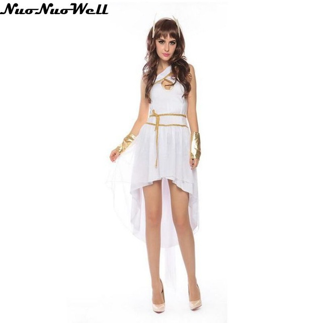 Fancy dress in white and gold