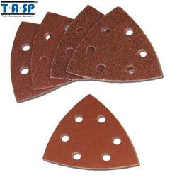 TASP 25 pièces 93mm papier abrasif Delta ponceuse disque crochet & boucle papier abrasif outils abrasifs avec grain 60 80 120 180 240-MSH93