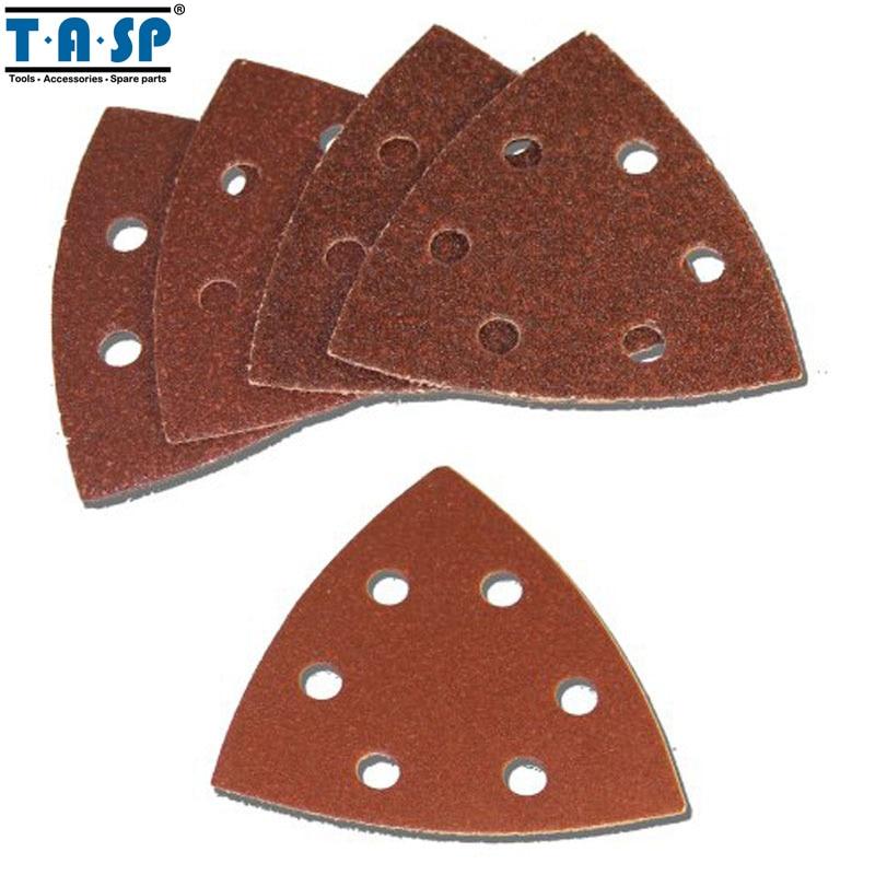 TASP 25ピース93 mmサンドペーパーデルタサンダーディスクフック&ループサンディングペーパー研磨剤、グリット付き60 80 120 180 240-MSH93
