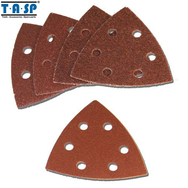 TASP 25pcs 93mm Sandpaper Delta Sander Disc Hook & Loop Triangle Sanding Paper Abrasive Tools With Grit 60 80 120 180 240