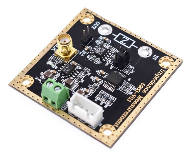 US $45 0  AD5933 impedance converter network analyzer module 1M sampling  rate 12bit resolution measurement resistance-in Integrated Circuits from