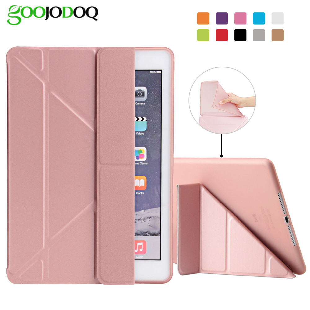 цена на GOOJODOQ Case For IPad Pro 9.7 PU Leather Magnetic Smart Case Soft TPU Back 5 Shapes Slim case for Ipad pro 9.7 Auto Sleep/Wake