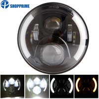 DOT Approved 7 LED Harley Motorcycle Headlight, 7 Inch Daymaker LED Projector Headlights, Motorcyle Parts Lighting