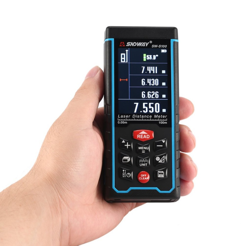 SNDWAY SW-S 100 100M Handheld Laser-distanzmessgerät Range Finder Trena Laser Maßband Abstand Werkzeug Entfernungsmesser