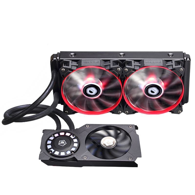 ID-cooling Frostflow 240G-R LED comet light cream stream integrated graphics water cooling radiator cuccio 240g